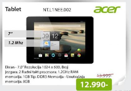 "Tablet B1-710 7"" NT.L1NEE.002"