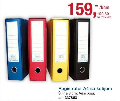 Registrator A4 sa kutijom