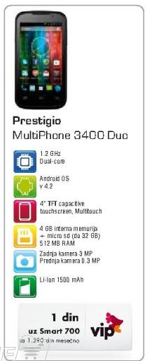 Mobilni telefon Multiphone 3400 Duo