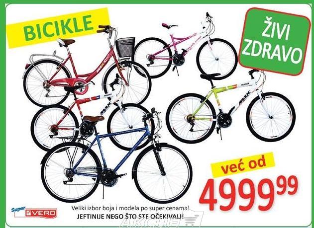 Bicikle već od 4999.99 dinara!