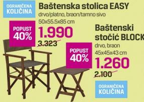Baštenski stolica Easy