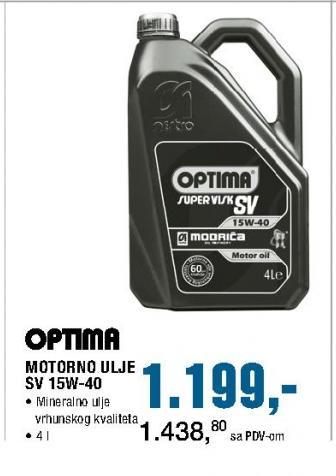 Motorno ulje SV 15W-40