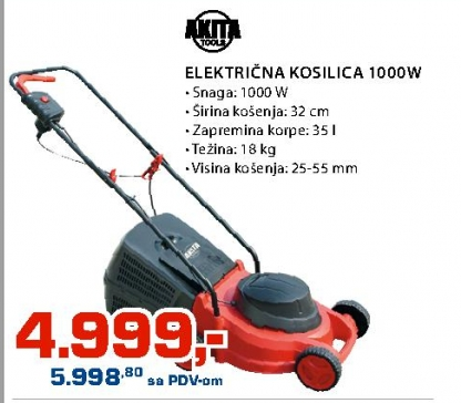 Električna Kosilica 1000W
