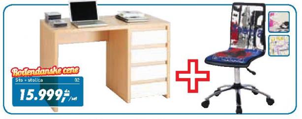 Kancelarijska stolica Look i radni sto Network