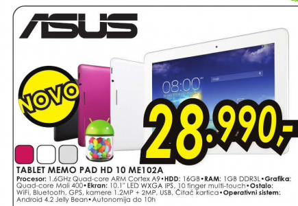 Tablet MeMO Pad HD 10 ME102A