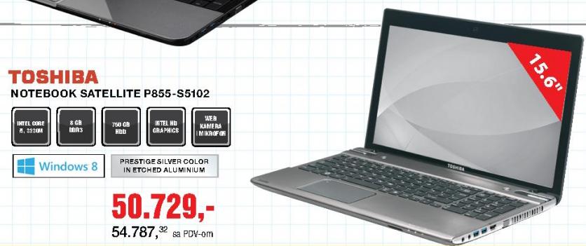 Laptop Notebook Satellite P855-S5102