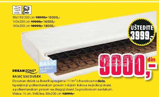 Dušek Basic S30, 80x200cm