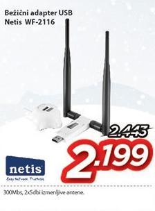 Bežični adapter Wf-2116 Usb Netis