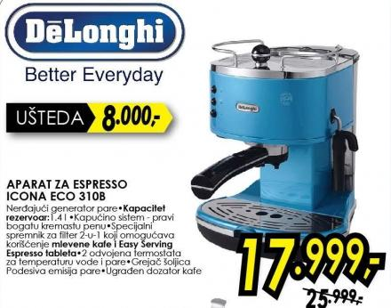 Aparat za espresso Icona Eco 310b