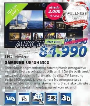 "Televizor LED 40"" UE40H6500"