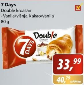 Kroasan Double vanila i višnja