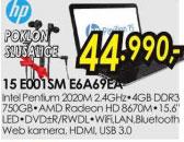 Laptop Pavilion 15-E001SM E6A69EA