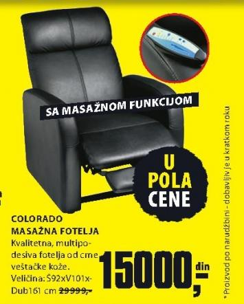 Masažna fotelja Colorado