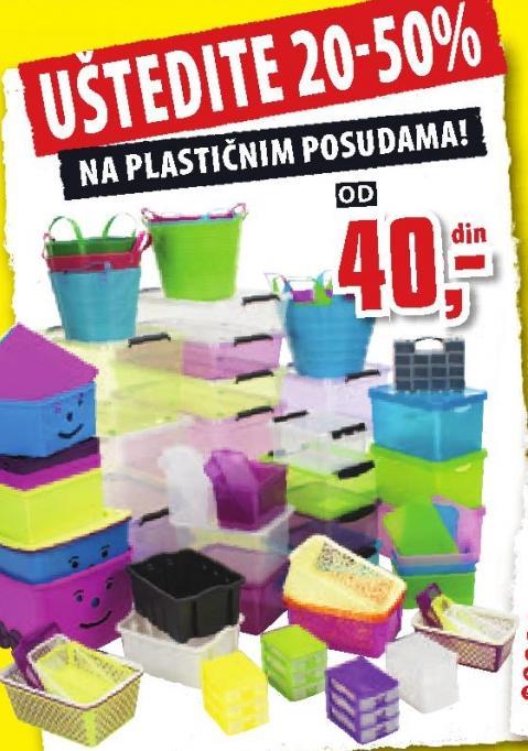 Uštedite na plastičnim posudama