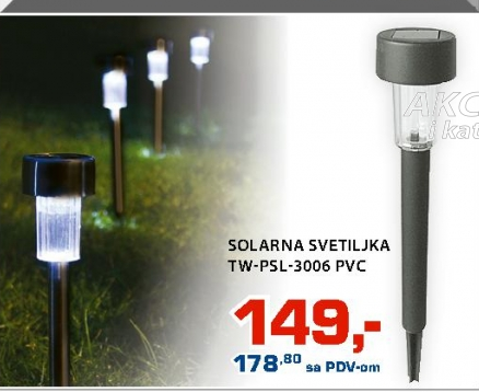 SOLARNA SVETILJKA TW-PSL-3006 PVC