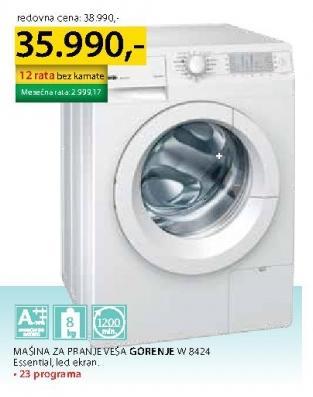Mašina Za Pranje Veša W 8424 Essential