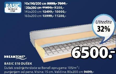 Dušek Basic S10 90x190/200cm