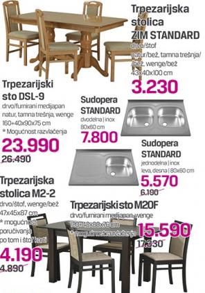 Trpezarijska stolica Zim Standard