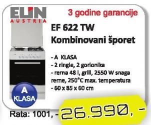 Kombinovani šporet Ef 622 Tw