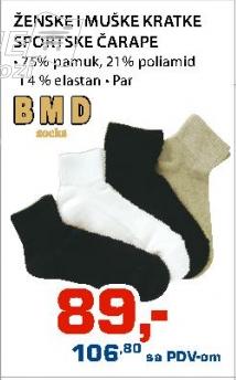 Ženske i muške kratke sportske čarape