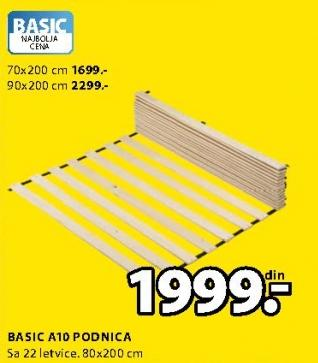 Podnica Basic A10 90x200cm