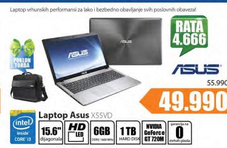 Laptop ASUS X55VD + Poklon torba