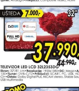 Televizor LED 32L2353