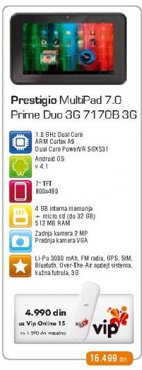 Tablet MultiPad 7.0 Prime Duo  PMP7170B3G