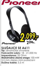 Slušalice SE-A611