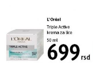 Krema za lice Triple Active