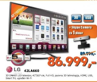 Televizor LED  42LA660