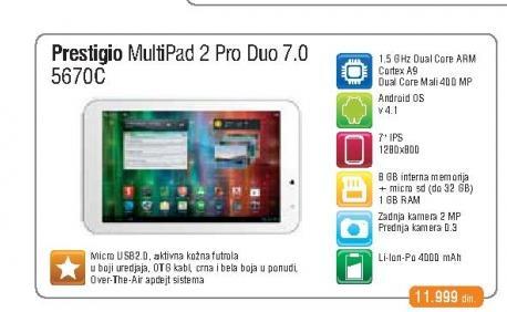 Tablet  Multipad 5670C