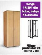 Garderober MILANO 2K wenge
