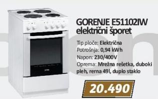Električni šporet E51102iw