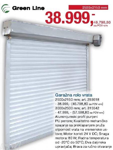 Garažna Rolo vrata 3000x2500mm