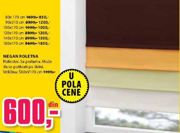 Roletna Megan 100x170 cm