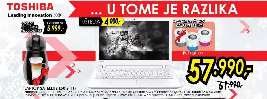 Laptop Satellite L50 B 11f
