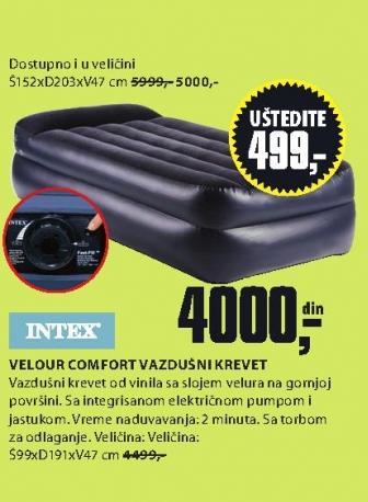 Vazdušni krevet Velour Comfort 99x191x47
