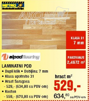Laminat pod