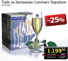 Čaše Signature za šampanjac