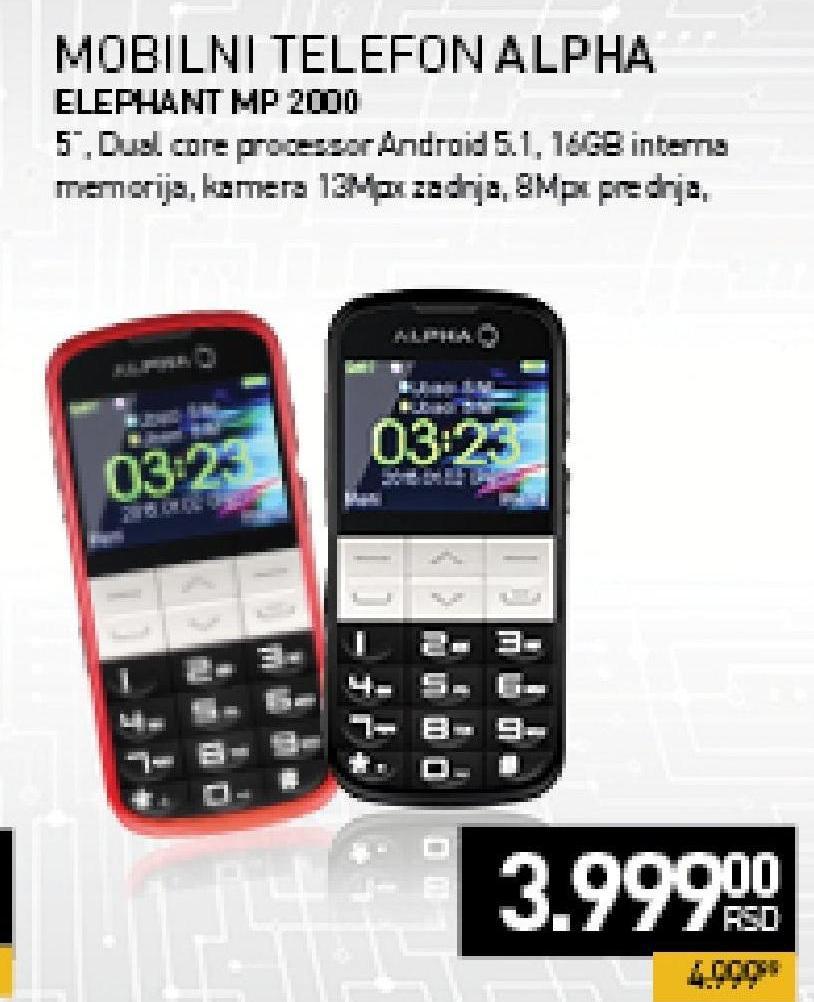 Mobilni telefon Elephant MP 2000