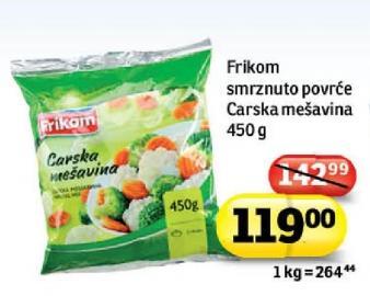 Smrznuto povrće carska mešavina