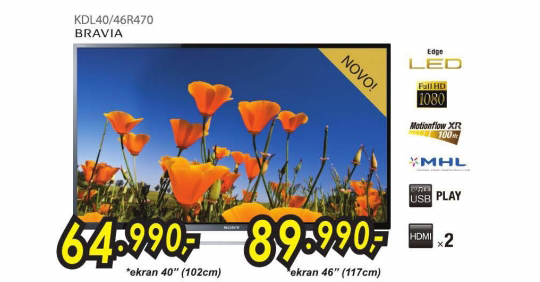 Televizor LED  KDL40R470 Bravia