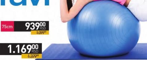 Lopta za pilates 75cm