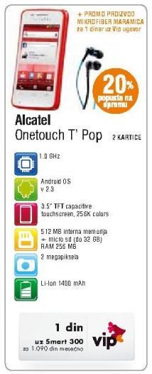 Mobilni telefon Onetouch T Pop