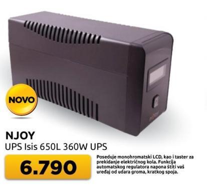 UPS Isis 650l Njoy