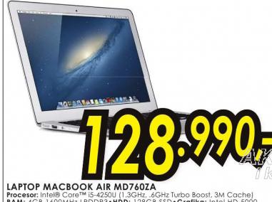 Laptop MacBook Air MD760Z/A