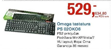 Tastatura OMEGA PS 02POKO6