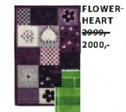 Tepih Flower Heart