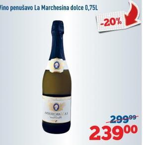 Penušavo vino Dolce